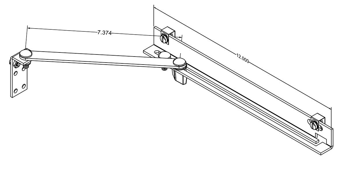Door Stop Kit Assembled with measurements Drawing pg 26